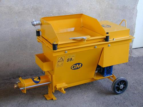 Traditional mortar PLASTERING MACHINE, separate compressor and mechanical vibrating sieve